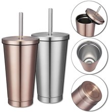 Stainless Steel Smoothie Tumbler with Straw