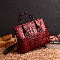 Винтаж Мода Крокодил пояса из натуральной кожи роскошные женские сумки для женщин дизайнер женская сумка Bolsas Feminina