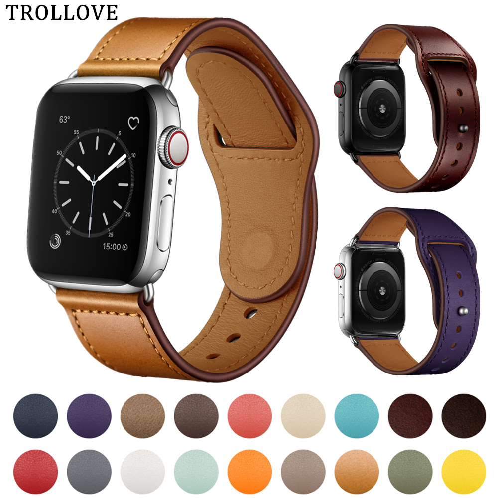 Leather Replacement Band For Apple Watch 4 44mm 40mm Wrist Bracelet Strap For iWatch Smart Accessories Series 1 2 3 42mm 38mmLeather Replacement Band For Apple Watch 4 44mm 40mm Wrist Bracelet Strap For iWatch Smart Accessories Series 1 2 3 42mm 38mm