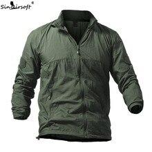 2019 Mens Coat Jacket Military Pilot Tactical Breathable Light Windbreaker Waterproof