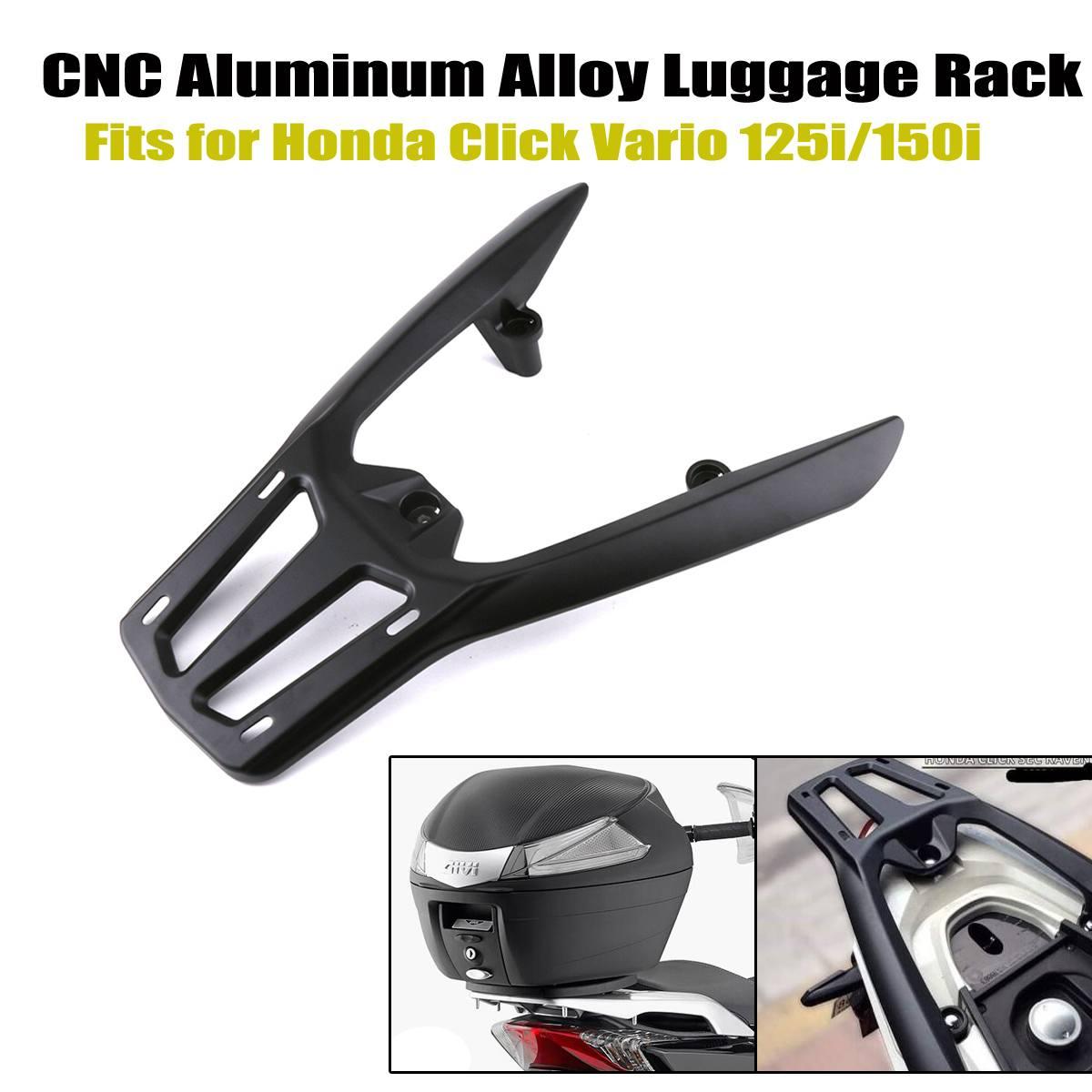 Motorfiets Cnc Aluminium Fiets Achter Bagage Rack Cargo Houder Plank Beugel Kit Voor Honda Klik 125i 150i Vario 125 150