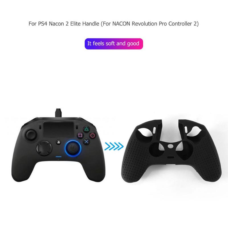 1Pcs Non-slip Silicone Joystick Game Handle Case Cover For PS4 Nacon Revolution Pro Controller 2 V2 Gamepad