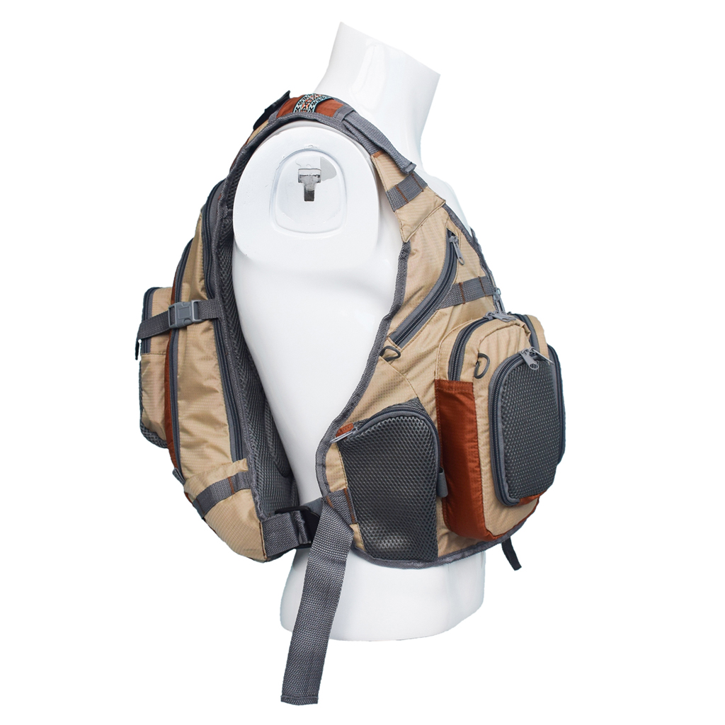 Fly Fishing Backpack Vest Combo Fishing Tackle Mesh Vest Multifunctional Bag Free Size for Outdoor Sports-in Fishing Vests from Sports & Entertainment    1