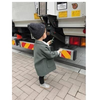 Winter Jackets Boys Solid Woolen Double-breasted Baby Boy Trench Coat Lapel 3 4 5 6 7 Y Kids Outerwear Coats For Boy Windbreaker Karachi