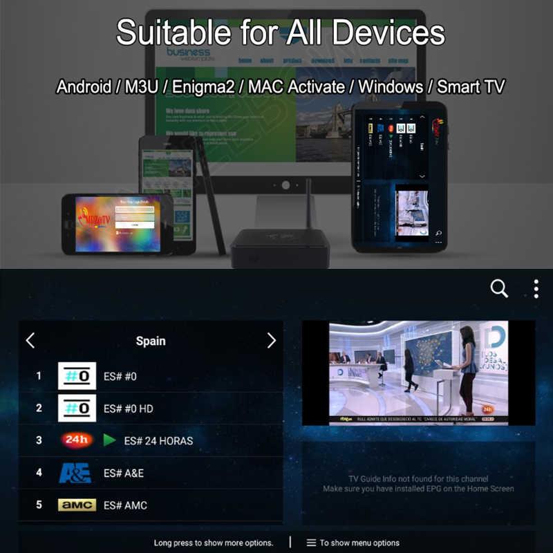 Лучшие стабильной IP ТВ Испания M3U Live IP ТВ Португалия Франция 1 год IP ТВ подписки Бесплатная VOD для Enigma2 Android Box M3U Smart ТВ