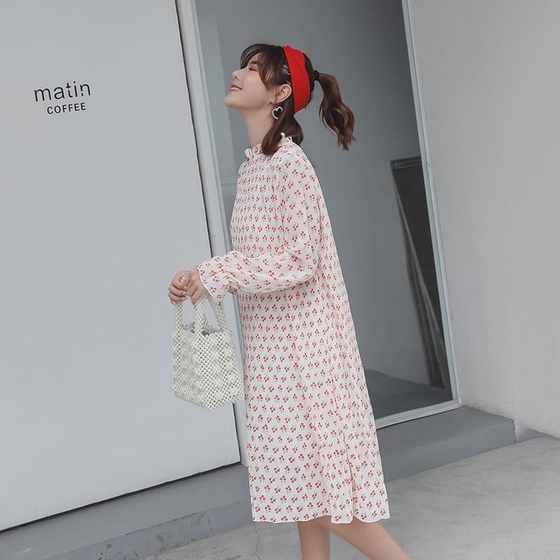 bd28417fae3 Aliexpress.com   Buy Pengpious 2019 spring long lantern sleeve maternity  fashionable floral chiffon dress plus size pregnant women printed dress  nice from ...