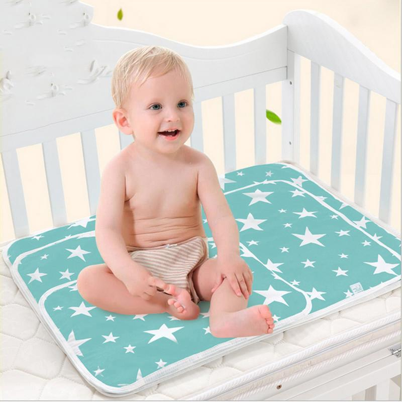 Hard-Working 35 Nappy Changing 45 Cm New Baby Insulation Mat Diaper Changing Pad Baby Cartoon Cotton Breathable Waterproof Foldable Diaper Mattress Pad