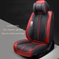 5 seats Car Seat Cover Seat Cushion Senior Microfiber Leather Sponge Layer Seat Cushion For Car Styling For Sedan SUV