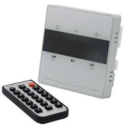 Sistema de áudio em casa, sistema de música, sistema de alto-falante de teto, amplificador estéreo digital bluetooth, no amplificador de parede com chave de toque