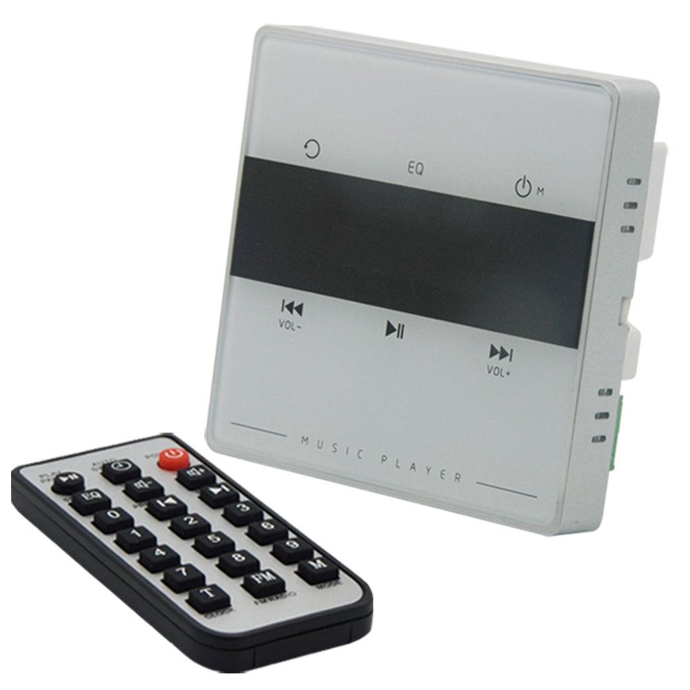 Système Audio domestique, système de musique, système de haut-parleurs de plafond, amplificateur stéréo numérique Bluetooth, amplificateur mural avec touche tactile