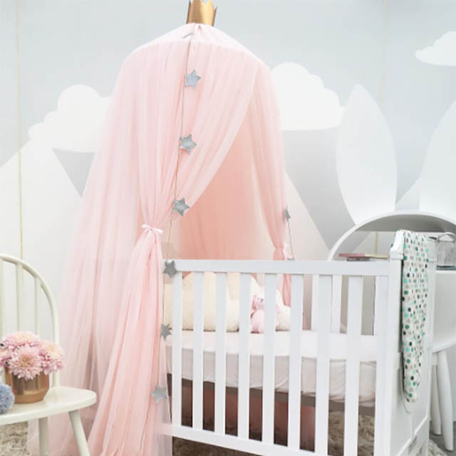 Baby Crib Tents Bed Curtain Hung Dome Mosquito Net Kids Girls