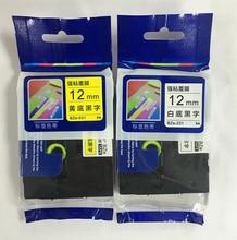 2 ADET FGHGF için uygun kardeşler yazıcı PT E100 etiket makinesi şerit 12mm 9 18 24 36 PT E100B D210 baskı kağıt
