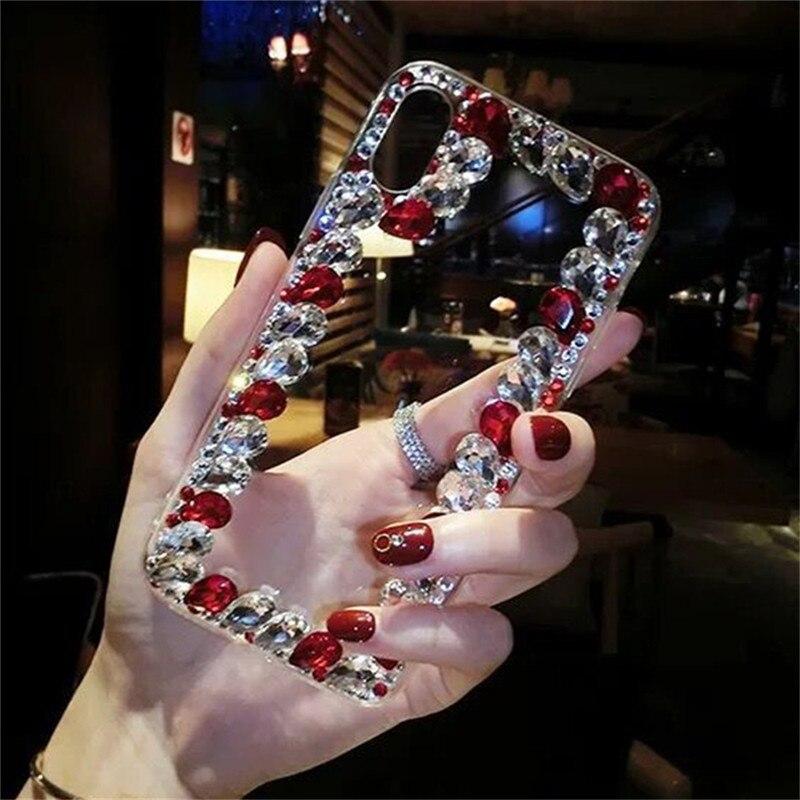 For Samsung Galaxy Note 9 8 A60 A50 S10 Lite S10E S10 S9 S8Plus M10 M20 M30 A10 A30 A40 A70 A8 A9 2018 A9S Rhinestone Case Coque