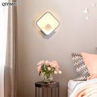 Modern Led Wall Lights For Living Room Beside Room Bedroom Corridor white black frame LED Sconce Wall Lamp square shape dero