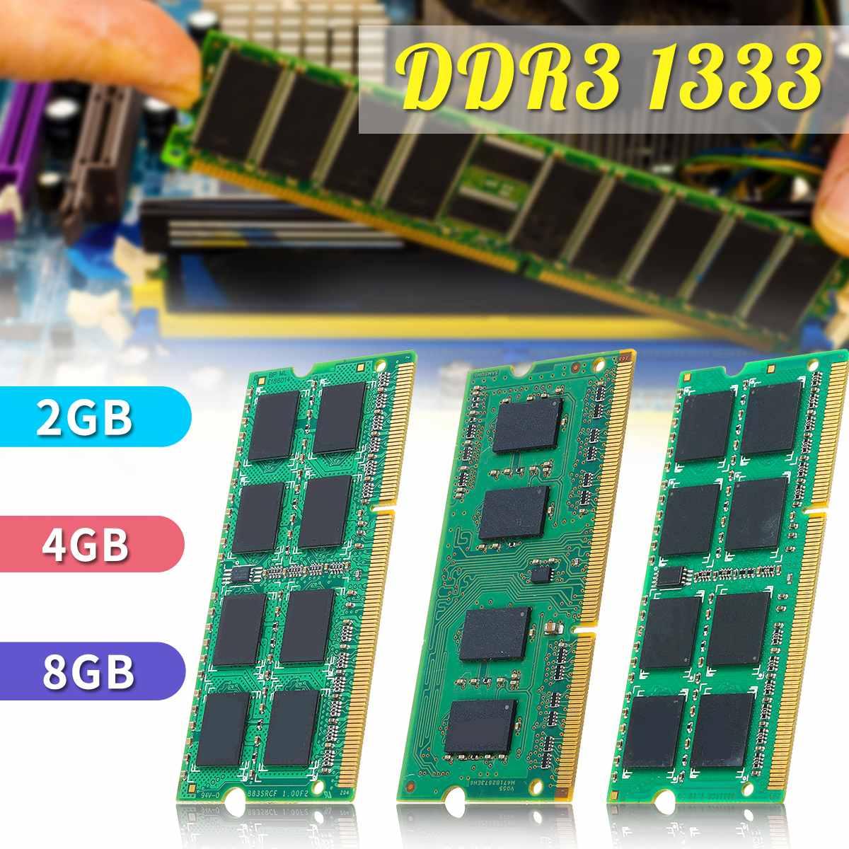 8 GB 4 GB 2 GB ordinateur portable mémoire pour Ram DDR3 1333 mhz PC3-10600S 204 PIN SO-DIMM LOT