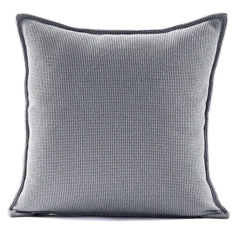 LM Cotton Square Throw Pillow Covers Cushion Cases Pillowcases Hidden Zipper 45 X 45 Cm