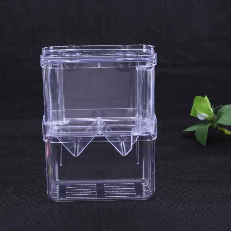 Large Acrylic Fish Breeding Box Aquarium Breeder Box Double Guppies Hatching Incubator Isolation Aquarium Pet Supplies S/L