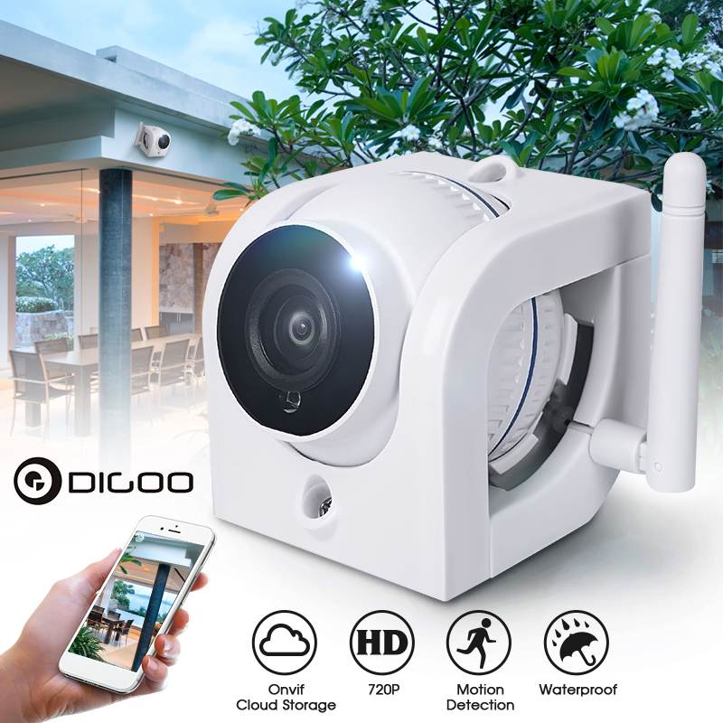 WIFI IP Camera For Home Security Cloud Storage 3.6mm 720P Waterproof Outdoor Surveillance Night Vision Alarm Support Ip Camera