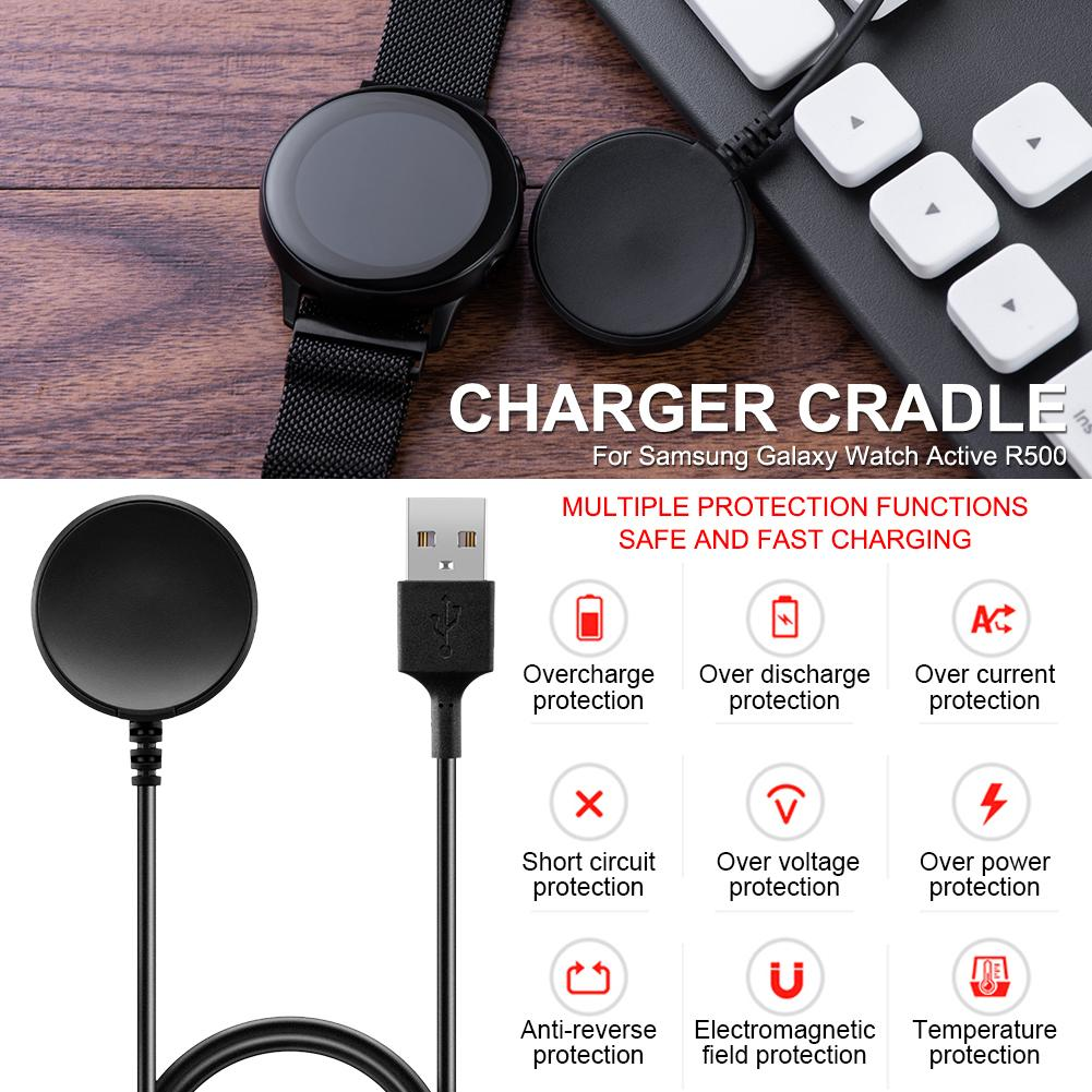 Replacement Smart Watch Charging Dock USB Charger Cradle for Samsung Galaxy Watch Active R500 Wireless Charger USB CableReplacement Smart Watch Charging Dock USB Charger Cradle for Samsung Galaxy Watch Active R500 Wireless Charger USB Cable