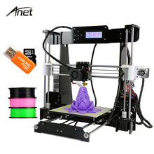 High Precision Desktop A8 3D Printer Kits Reprap i3 DIY Extruder Nozzle Acrylic Frame LCD Screen with 8GB SD Card+Filament+Tools