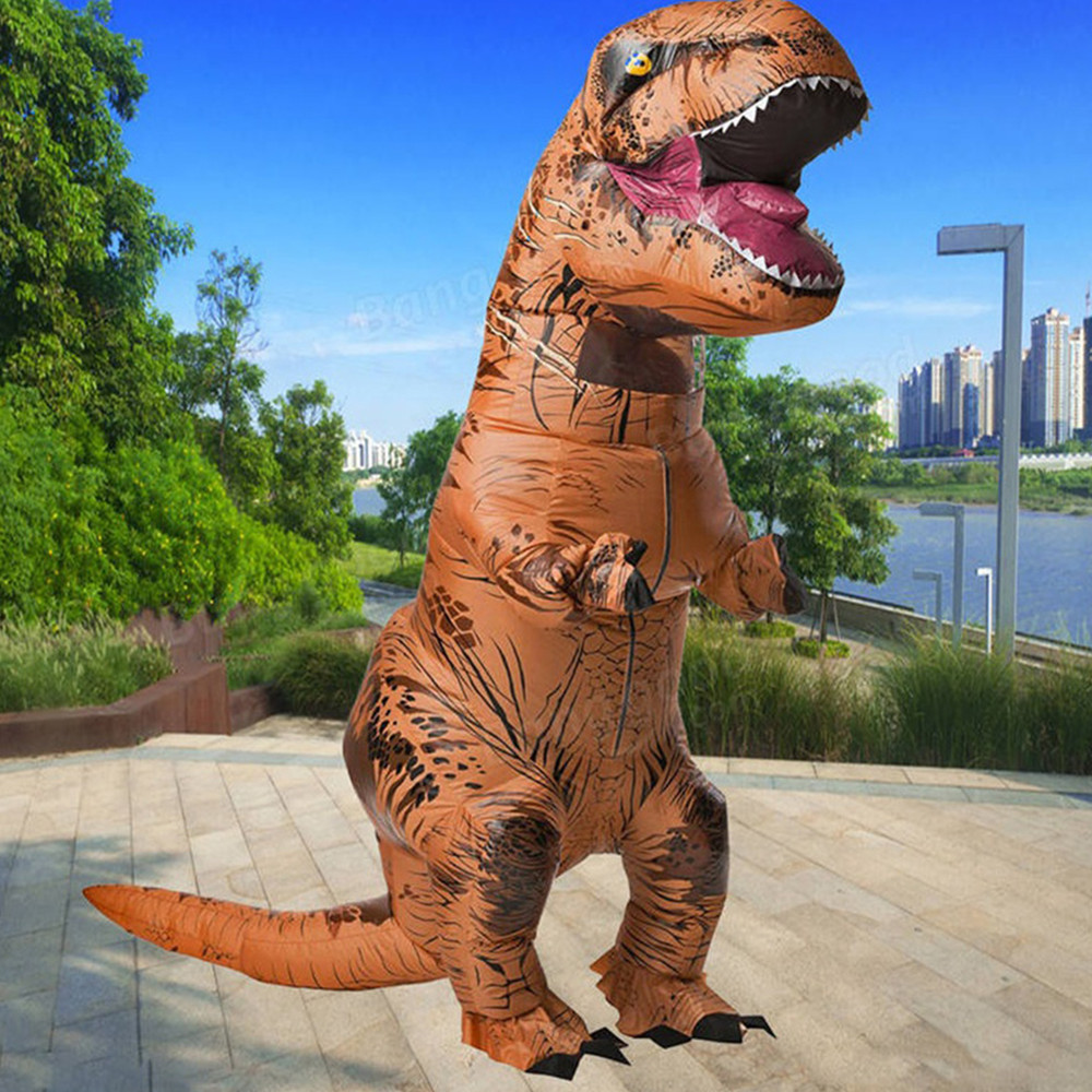 220cm Funny Adult Inflatable Dinosaur Fancy Dress For Halloween Cosplay Cosplay Halloween Party Costumes Fantasy For Men Women цена