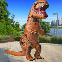 220cm Funny Adult Inflatable Dinosaur Fancy Dress For Halloween Cosplay Cosplay Halloween Party Costumes Fantasy For Men Women