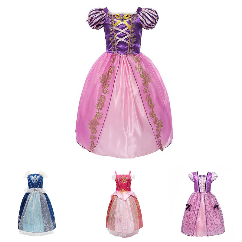 Kids Dress for Girl Summer Clothes Princess Sofia Snow White Party Gown Fancy Rapunzel Sleeping Beauty Cosplay Halloween CostumeKids Dress for Girl Summer Clothes Princess Sofia Snow White Party Gown Fancy Rapunzel Sleeping Beauty Cosplay Halloween Costume
