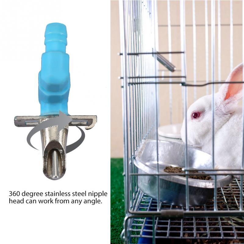 25 Sets Rabbit Nipple Water Drinking Supplies Poultry Cage Feeding Tool