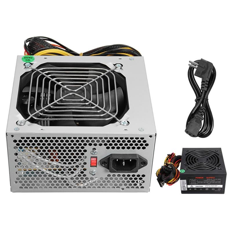 Max 1000W Atx Power Supply Quiet Fan For Intel For Amd Pc Psu Pc Computer Miner