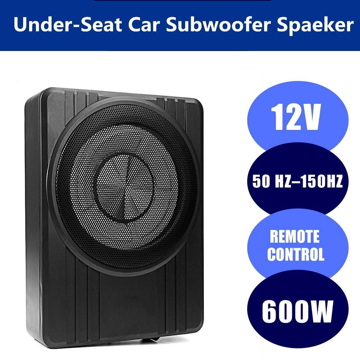 10 дюймов 600 Вт автомобильный усилитель сабвуферов тонкий под сиденьем автомобильный динамик s активный сабвуфер для автомобиля бас-усилите...