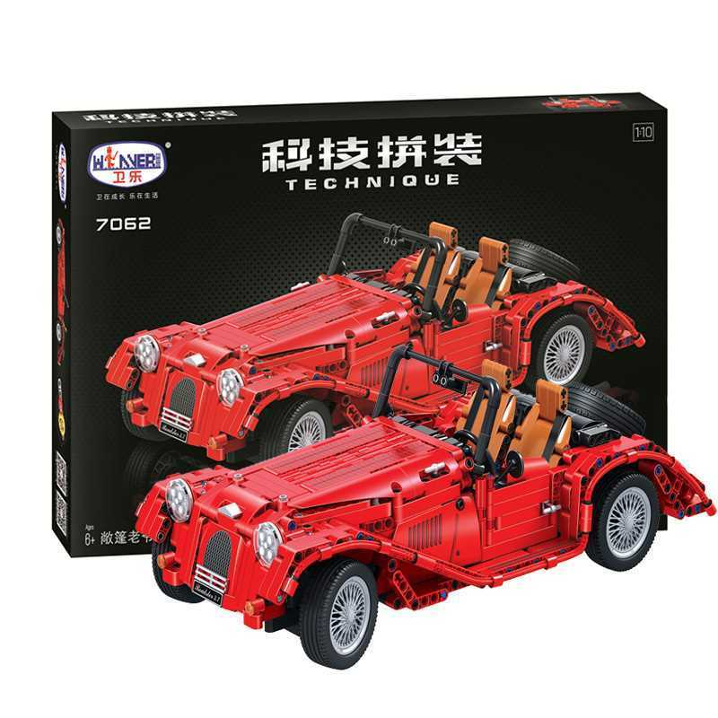 799pcs Technic Series Classic Vintage Convertible Car Building Blocks Bricks Model Toys For Children Gifts