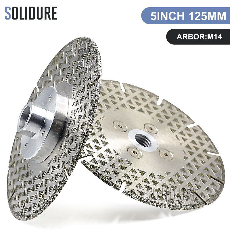 125mm Electroplated Diamond cutting Blade with M14 Flange For marble or engineered stone Circular Saw blade