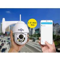 Hiseeu 1080 P PTZ 5X зум аудио IP Камера открытый Водонепроницаемый Мини Wi Fi Камера 2MP Цвет Ночное видение P2P видеонаблюдения Камера