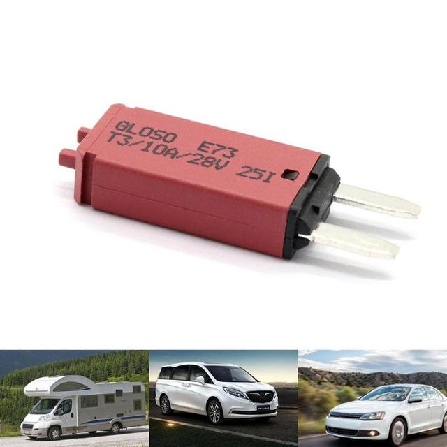 Manual Reset Mini Circuit Breaker Blade Fuse for Car Automobile Truck RV