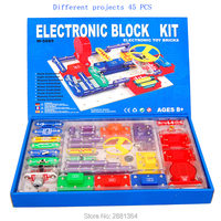 W5889 Smart Electronic Circuits Block Kit Integrated Circuit Great Diy Building Blocks Experiments Educational Science Kids Toys