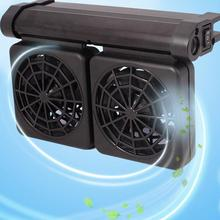 цена Aquarium Fish Tank Automatic Temperature Control Fan Tank Cooling Aquarium Fan Water Cooling Mute Aquarium Chiller Eu Plug