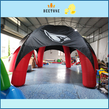 Hot sale 7/7m diameter Oxford cloth inflatable tent with fan все цены