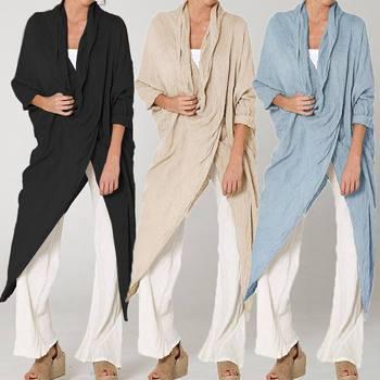 24244f845a7 S-5XL Women Vintage Long Blouses Casual Asymmetrical Tops 2019—Free Shipping