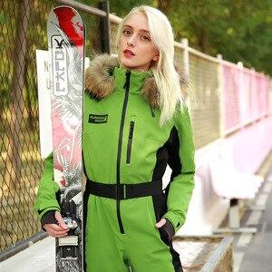 Image 5 - 実行している川ブランド防水ジャケットの女性のスキースーツ女性のスキースノーボードジャケット女性スノーボードセット服 # N9470