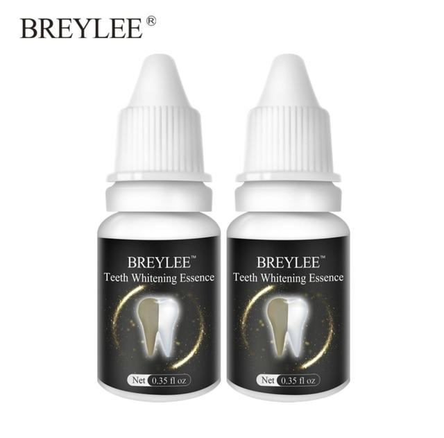 Breylee Teeth Whitening Essence Oral Hygiene Cleaning Serum White Gel Teeth Care Tooth Bleaching Dental Tools Perfect Smile 2pcs