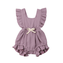 4fcfb2c6f57c 6 Color Cute Baby Girl Ruffle Solid Color Romper Jumpsuit Outfits Sunsuit  for Newborn Infant Children