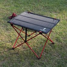 Портативный стол для кемпинга, складной стол, мебель для отдыха на природе, для пикника, алюминиевый сплав, ультра-светильник, складной стол