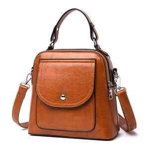 Image 1 - 2019 Small Crossbody Bag For Women Leather Shoulder Bags Bolsas Feminina Small Messenger Bags Female Sac A Main Ladies Bag New