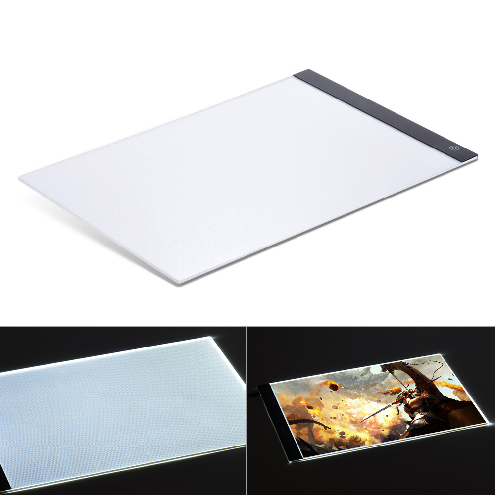 Portable A3 LED Light Box Drawing Tracing Tracer Copy Board Table Pad Panel Copyboard with Memory