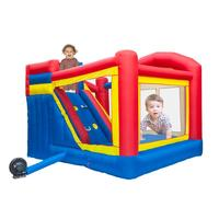 PVC Inflatable Trampolines Bouncy Castle Children Safe Smooth With Blower Dual Slides Bounce House Inflatable Trampolines