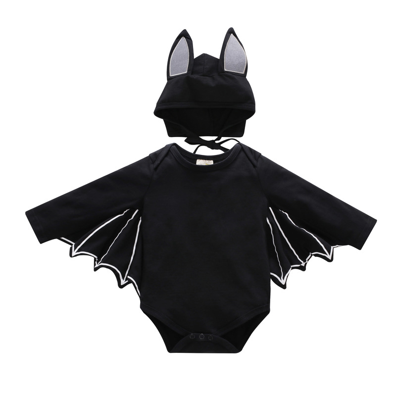 Halloween Newborn Baby clothing Toddler Baby Boys Girls Halloween Bat Cosplay Costume Long Sleeve Romper Hat Outfits Set|Clothing Sets| |  - title=