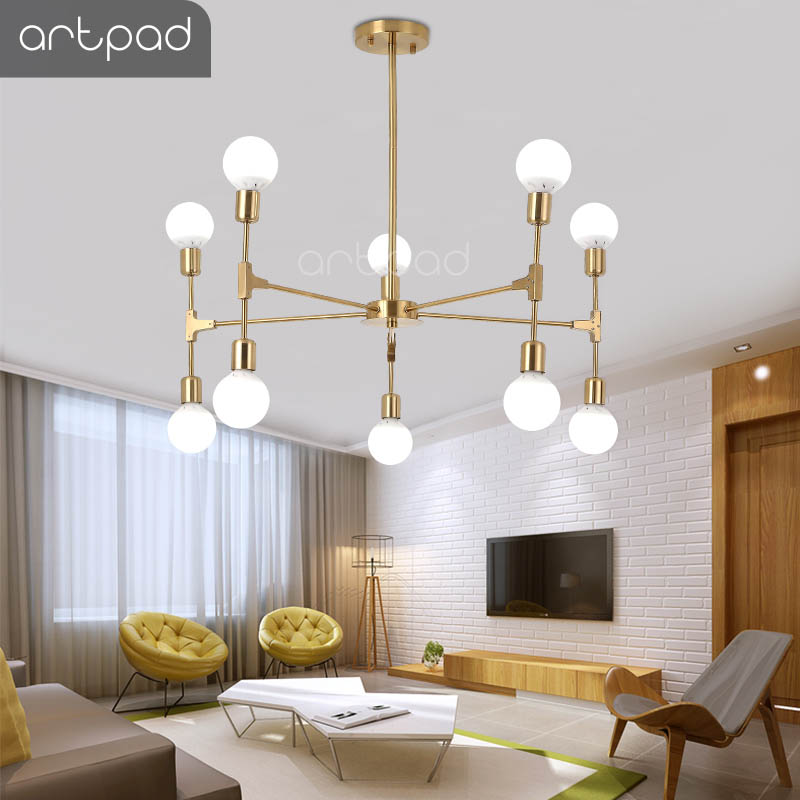 Artpad Nordic Modern Chandelier 6/8/10 Heads E27 Edison Bulb Ceiling Chandelier Lighting Fixture Bedroom Living Room Restaurant Artpad Nordic Modern Chandelier 6/8/10 Heads E27 Edison Bulb Ceiling Chandelier Lighting Fixture Bedroom Living Room Restaurant