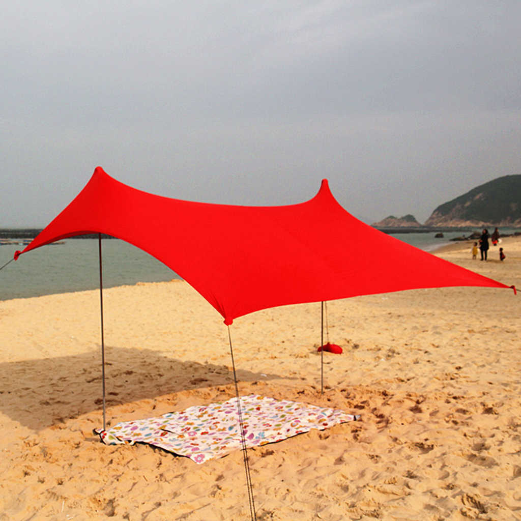 cozy fresh 323e7 6c23f Waterproof Sunshade Tarp Shelter Awning Canopy Camping Beach Tent Cover  Lightweight Foldable