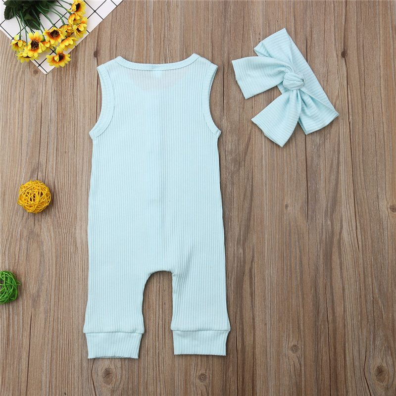 2019 Summer Solid Rompers Newborn Infant Baby Girl Boy Outfit Cotton Romper Jumpsuit Bebe Kids Ropa 2019 Summer Solid Rompers Newborn Infant Baby Girl Boy Outfit Cotton Romper Jumpsuit Bebe Kids Ropa Sleevless Casual Clothes Set