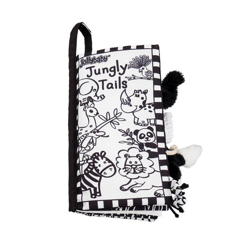 Baby Black White Puzzle Tail Cloth book New Baby Early Education Toys Enhanced Visual Parent-child Interactive Toy Cloth BookBaby Black White Puzzle Tail Cloth book New Baby Early Education Toys Enhanced Visual Parent-child Interactive Toy Cloth Book